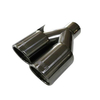 New Product Black Chrome-plated Corrosion-resistant Stainless Steel 304 Exhaust Tip