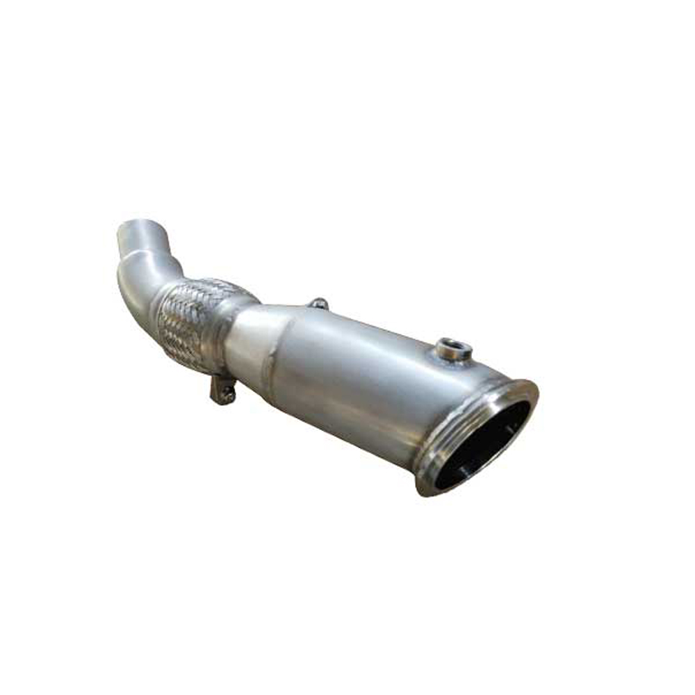 Stainless Steel 304+brushed thickness 1.5mm exhaust downpipe BMW 328i 330i