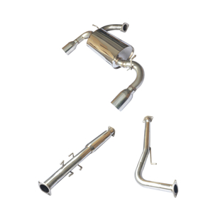 Cat Back ~08 Altima 2D/2.5L Silencer Stainless Steel 201 Mirror Polished Exhaust System